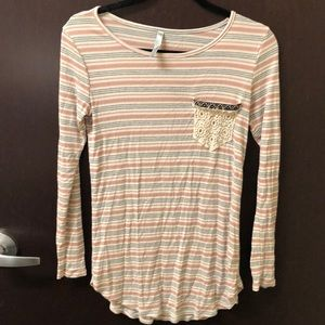 Tops - Striped long sleeve tee
